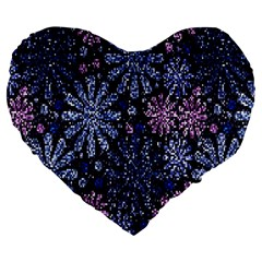Pixel Pattern Colorful And Glittering Pixelated Large 19  Premium Heart Shape Cushions