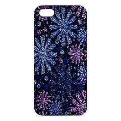 Pixel Pattern Colorful And Glittering Pixelated Apple iPhone 5 Premium Hardshell Case