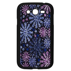 Pixel Pattern Colorful And Glittering Pixelated Samsung Galaxy Grand DUOS I9082 Case (Black)