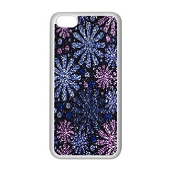 Pixel Pattern Colorful And Glittering Pixelated Apple iPhone 5C Seamless Case (White)