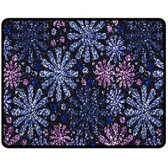 Pixel Pattern Colorful And Glittering Pixelated Double Sided Fleece Blanket (Medium)