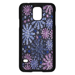 Pixel Pattern Colorful And Glittering Pixelated Samsung Galaxy S5 Case (Black)