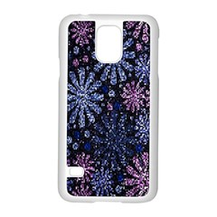 Pixel Pattern Colorful And Glittering Pixelated Samsung Galaxy S5 Case (White)