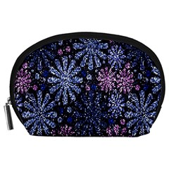 Pixel Pattern Colorful And Glittering Pixelated Accessory Pouches (Large)