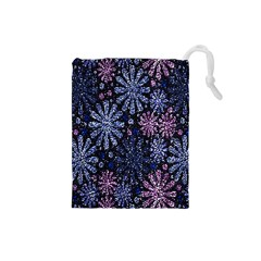 Pixel Pattern Colorful And Glittering Pixelated Drawstring Pouches (small)