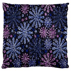 Pixel Pattern Colorful And Glittering Pixelated Large Flano Cushion Case (one Side)