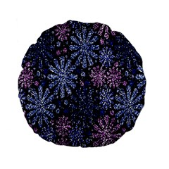 Pixel Pattern Colorful And Glittering Pixelated Standard 15  Premium Flano Round Cushions