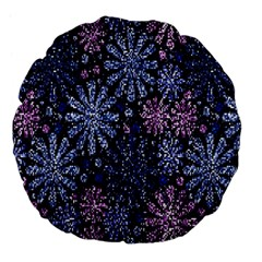 Pixel Pattern Colorful And Glittering Pixelated Large 18  Premium Flano Round Cushions