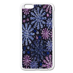 Pixel Pattern Colorful And Glittering Pixelated Apple iPhone 6 Plus/6S Plus Enamel White Case