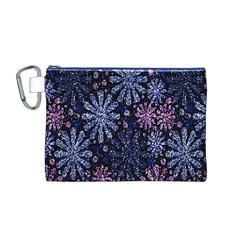 Pixel Pattern Colorful And Glittering Pixelated Canvas Cosmetic Bag (M)