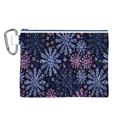 Pixel Pattern Colorful And Glittering Pixelated Canvas Cosmetic Bag (L)