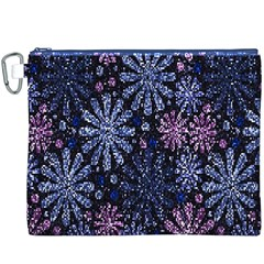 Pixel Pattern Colorful And Glittering Pixelated Canvas Cosmetic Bag (xxxl)