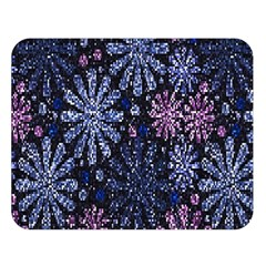 Pixel Pattern Colorful And Glittering Pixelated Double Sided Flano Blanket (large)