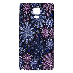 Pixel Pattern Colorful And Glittering Pixelated Galaxy Note 4 Back Case