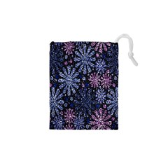 Pixel Pattern Colorful And Glittering Pixelated Drawstring Pouches (xs)