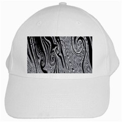 Abstract Swirling Pattern Background Wallpaper White Cap