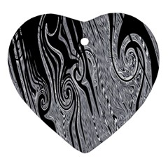 Abstract Swirling Pattern Background Wallpaper Ornament (Heart)