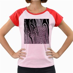 Abstract Swirling Pattern Background Wallpaper Women s Cap Sleeve T-Shirt