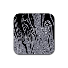 Abstract Swirling Pattern Background Wallpaper Rubber Square Coaster (4 Pack)