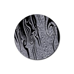 Abstract Swirling Pattern Background Wallpaper Rubber Coaster (Round)