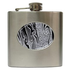 Abstract Swirling Pattern Background Wallpaper Hip Flask (6 Oz)