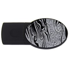 Abstract Swirling Pattern Background Wallpaper USB Flash Drive Oval (2 GB)