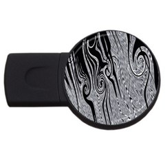 Abstract Swirling Pattern Background Wallpaper Usb Flash Drive Round (4 Gb)