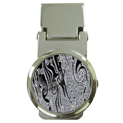 Abstract Swirling Pattern Background Wallpaper Money Clip Watches