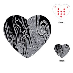 Abstract Swirling Pattern Background Wallpaper Playing Cards (heart)