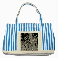 Abstract Swirling Pattern Background Wallpaper Striped Blue Tote Bag