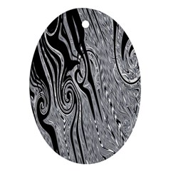 Abstract Swirling Pattern Background Wallpaper Oval Ornament (Two Sides)