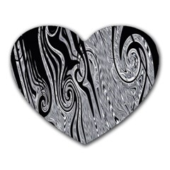 Abstract Swirling Pattern Background Wallpaper Heart Mousepads