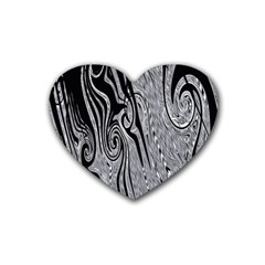 Abstract Swirling Pattern Background Wallpaper Rubber Coaster (Heart)