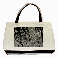 Abstract Swirling Pattern Background Wallpaper Basic Tote Bag (Two Sides)