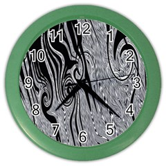 Abstract Swirling Pattern Background Wallpaper Color Wall Clocks