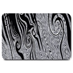 Abstract Swirling Pattern Background Wallpaper Large Doormat