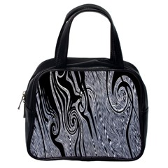 Abstract Swirling Pattern Background Wallpaper Classic Handbags (one Side)