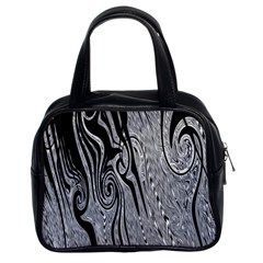 Abstract Swirling Pattern Background Wallpaper Classic Handbags (2 Sides)