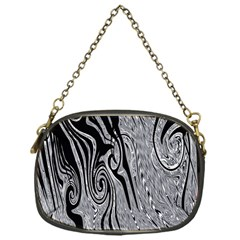 Abstract Swirling Pattern Background Wallpaper Chain Purses (One Side)