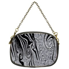 Abstract Swirling Pattern Background Wallpaper Chain Purses (two Sides)