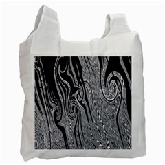 Abstract Swirling Pattern Background Wallpaper Recycle Bag (Two Side)