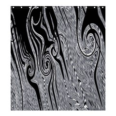 Abstract Swirling Pattern Background Wallpaper Shower Curtain 66  x 72  (Large)