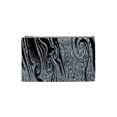 Abstract Swirling Pattern Background Wallpaper Cosmetic Bag (Small)