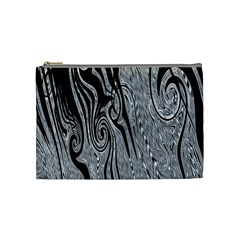 Abstract Swirling Pattern Background Wallpaper Cosmetic Bag (Medium)