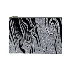 Abstract Swirling Pattern Background Wallpaper Cosmetic Bag (Large)