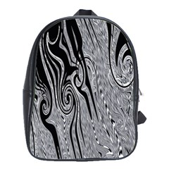 Abstract Swirling Pattern Background Wallpaper School Bags(Large)