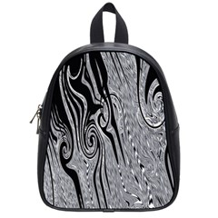 Abstract Swirling Pattern Background Wallpaper School Bags (Small)