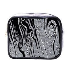 Abstract Swirling Pattern Background Wallpaper Mini Toiletries Bags
