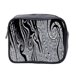 Abstract Swirling Pattern Background Wallpaper Mini Toiletries Bag 2-Side