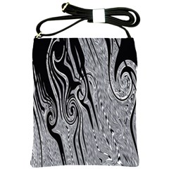 Abstract Swirling Pattern Background Wallpaper Shoulder Sling Bags